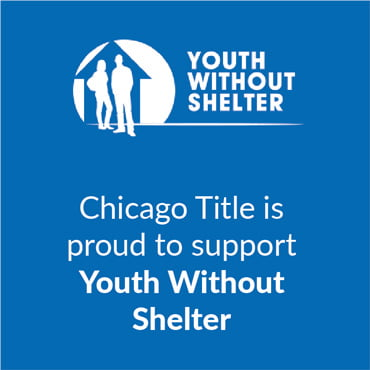 Chicago Title is proud to support Youth Without Shelter