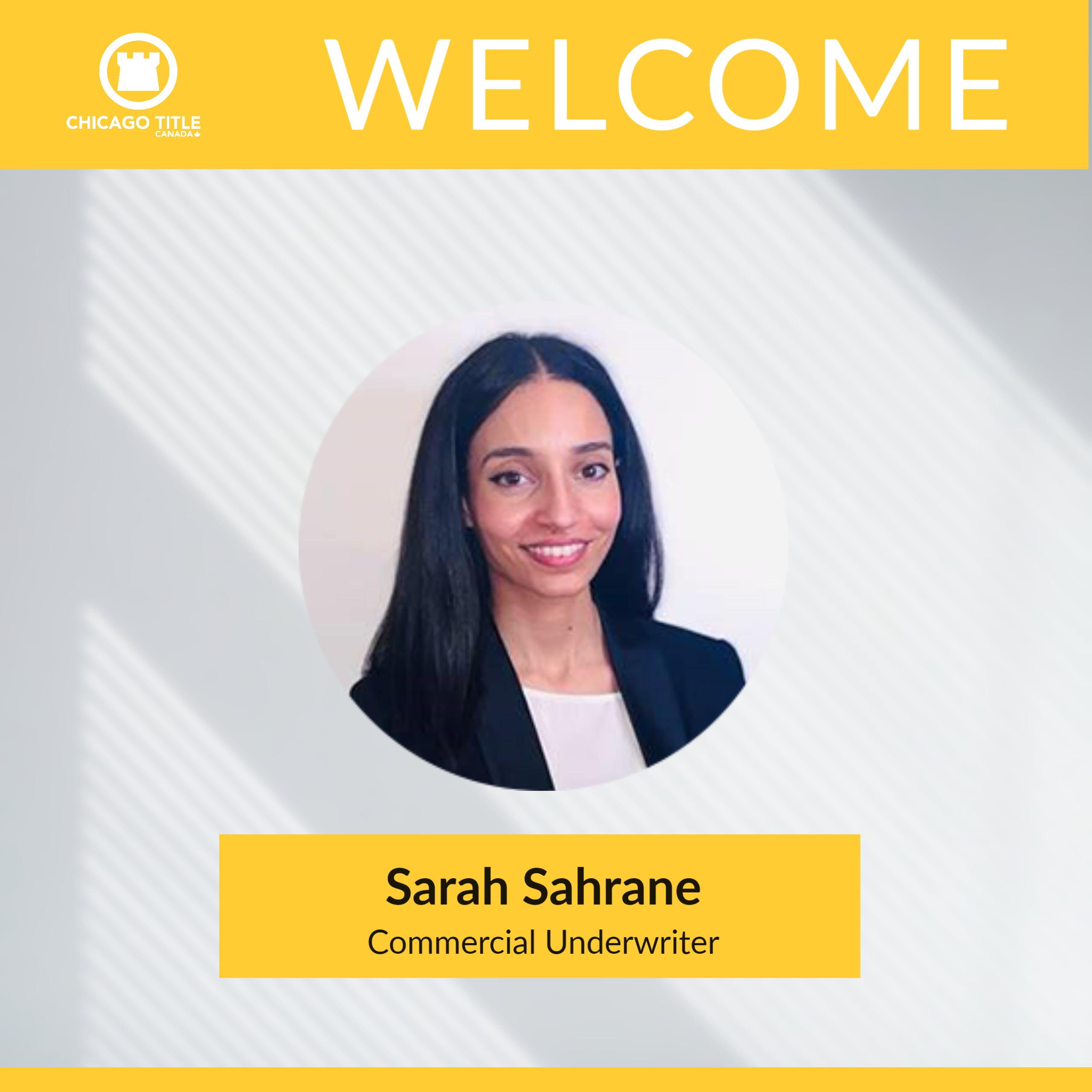 Sarah Sahrane