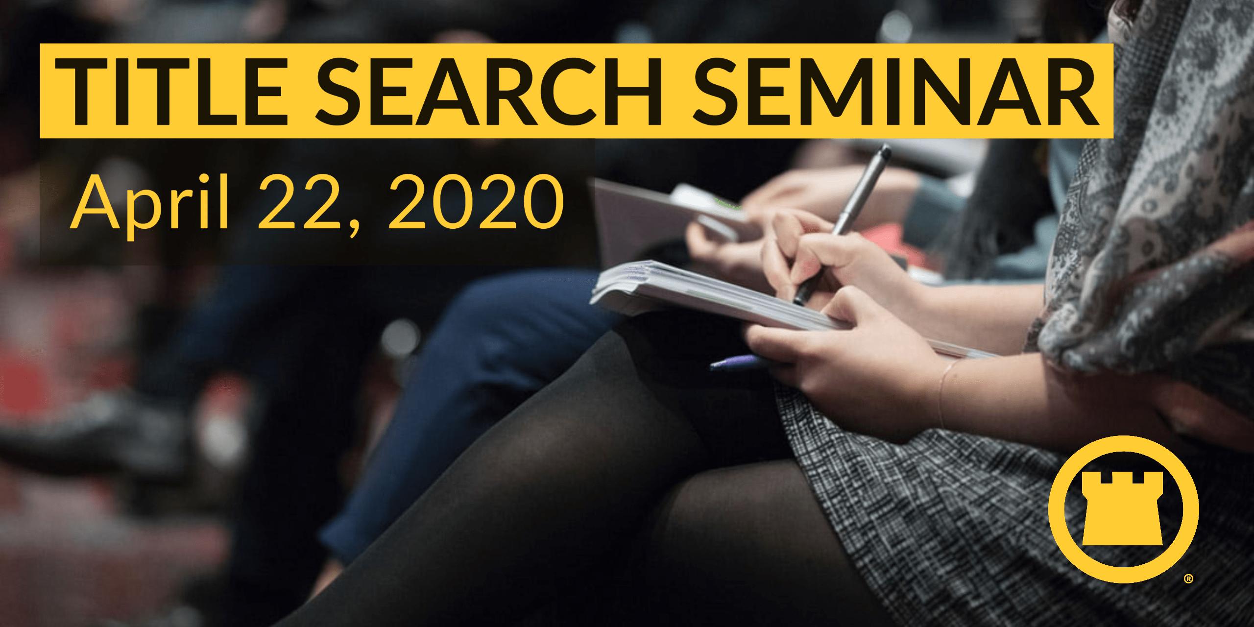 Title Search Seminar
