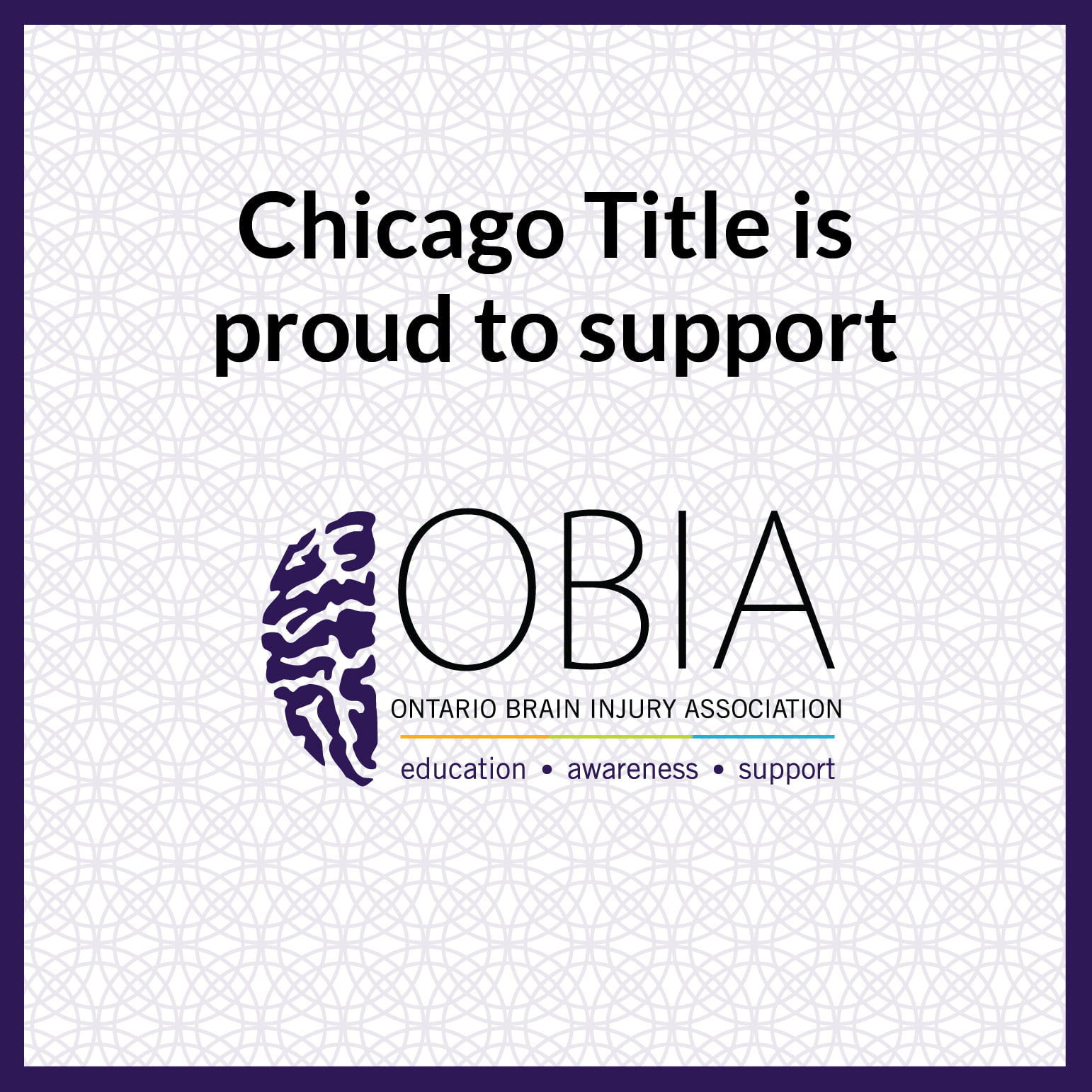Chicago Title is Proud to sponsor OBIA