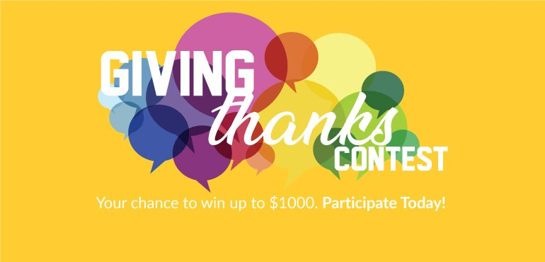 Giving Thanks Contest 2019