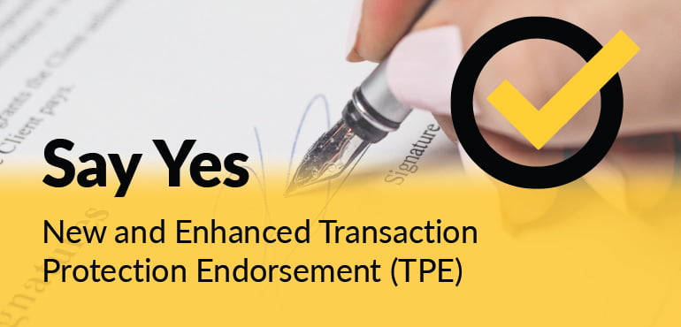 Transaction Protection Endorsement