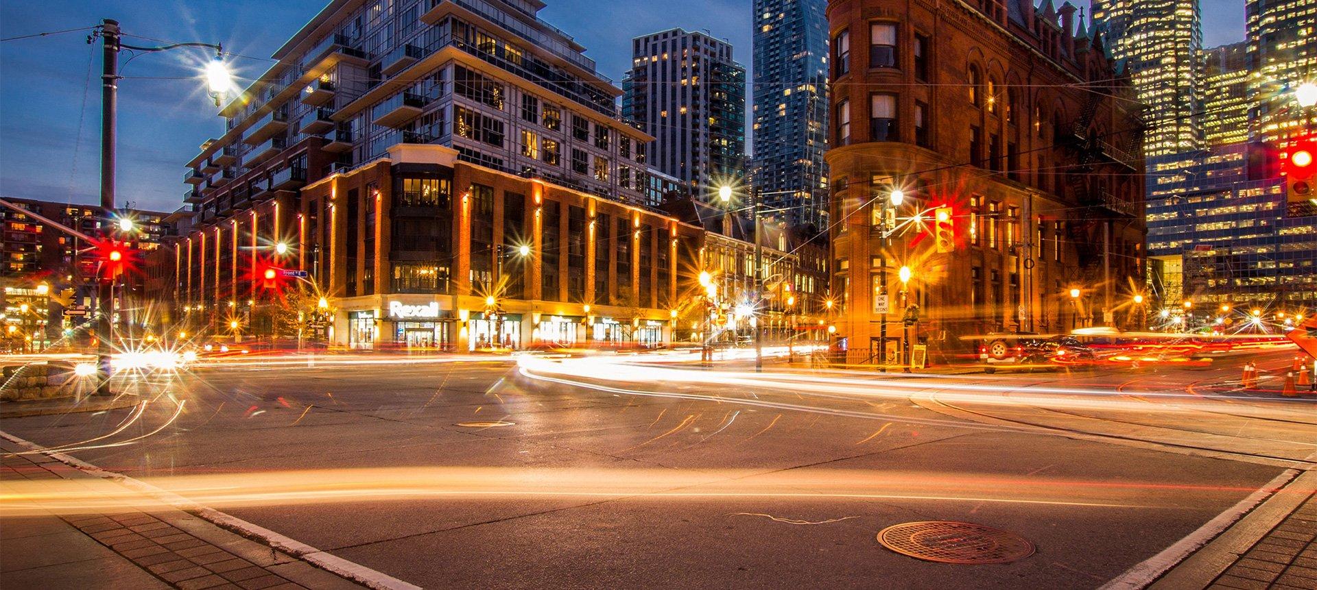 Toronto at night time lapse